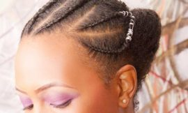 Feed in Braids Bun Wedding Hairstyles