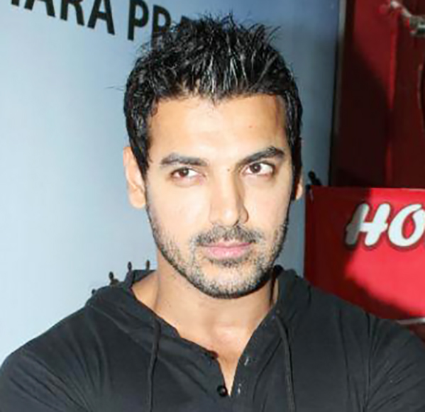 Picture: John Abraham's Short Hairstyles With Black T-Shirt (Bollywood Hairstyles for Men)