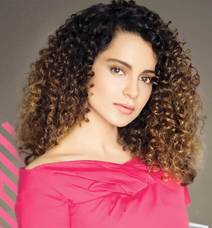 Indian Celebrity Kangana Ranaut Curly Hairstyles New
