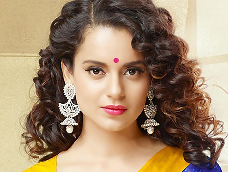 Indian Celebrity Kangana Ranaut Curly Hairstyles