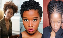 Black Natural Hairstyles for Work