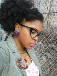 afro puff up on natural hair