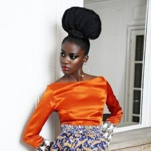 afro puff up on natural hair (2)