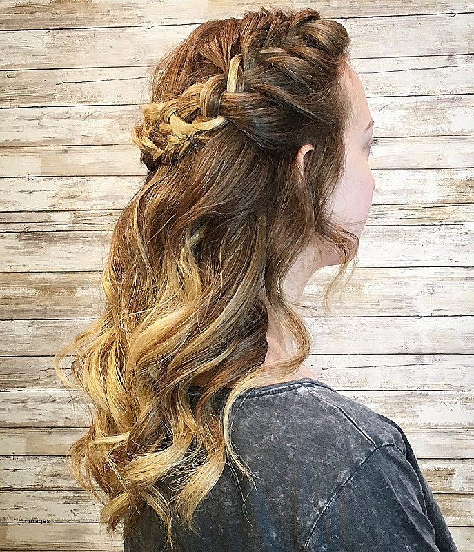 Brown Blonde Prom Hairstyles for Shoulder Length Hair