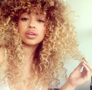 Blonde Natural Curly Hair African American