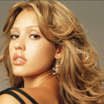 Jessica Alba Hot Hairstyles With Golden Color