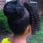 Bun Natural Hair for Black Children with Long Hair