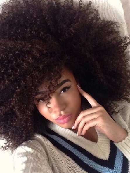 Natural Curly Afro Black Hair