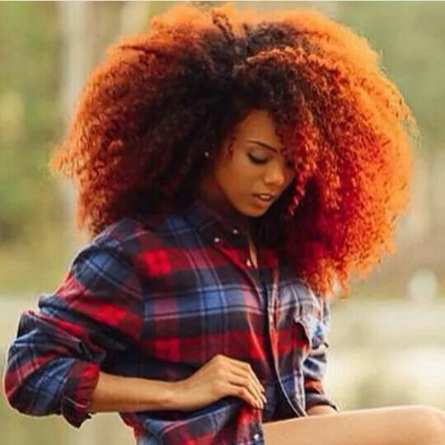 Medium Length Natural Afro Hairstyle