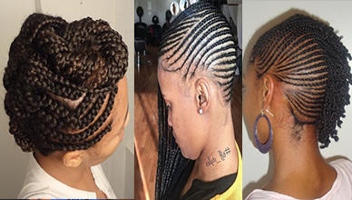 3 Glamorous Feed in Braids on Natural Hairstyles for Black Women