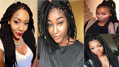 Black box braids Hairstyles for Natural Hair
