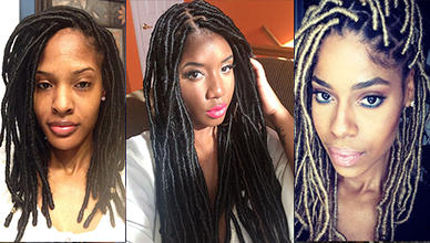 Faux Locs with Marley Hair Styles