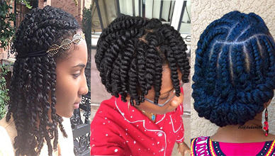 3 Black Natural Hairstyles Twists Ideas for Women