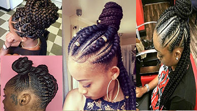 5 Box Braids Bun for Beautiful Black Women