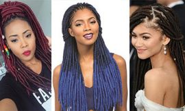 Attractive 4 Colored Faux Locs for Natural Hair