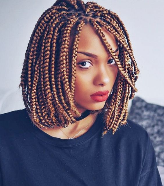 Box Braids Blonde