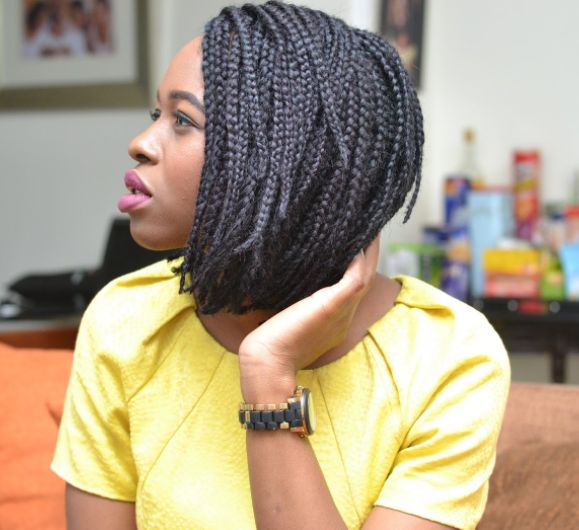 Box Braids Bob for Medium Ages Women