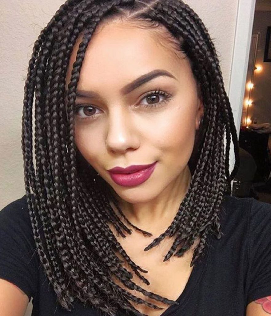 14 Dashing Box Braids Bob Hairstyles For Women New
