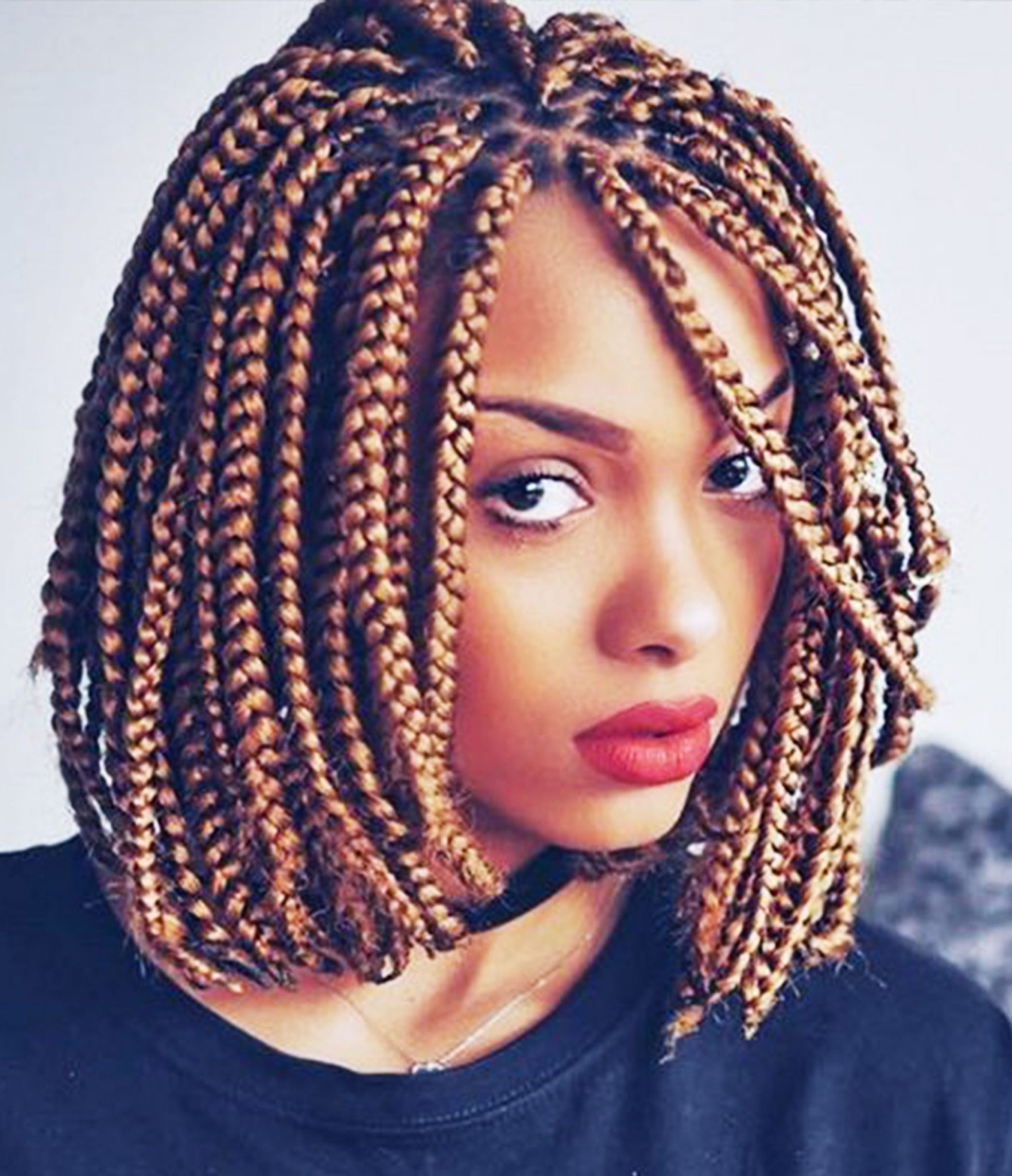 14 Dashing Box Braids Bob Hairstyles for Women | New Natural Hairstyles
