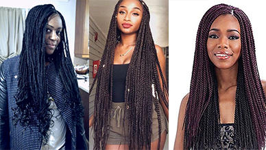 3 Loose Box Braids Hairstyles for Long Hair Women