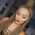 Glamour 13 Blonde Braids on Dark Skin