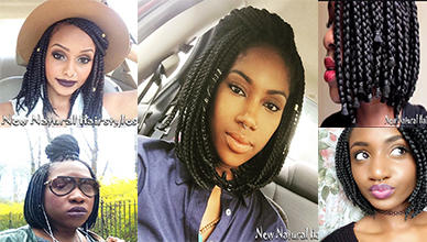 Box Braids Bob For Black Hair Women