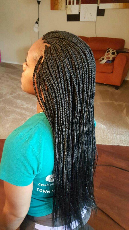 Charming Long Box Braids With Loose Ends Natural Hairstyles