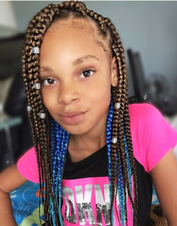 Natural Hair With Braids For Kids