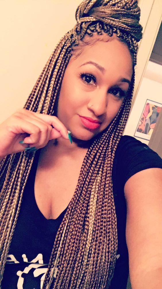 Lovely 6 Dark Brown Box Braids New Natural Hairstyles