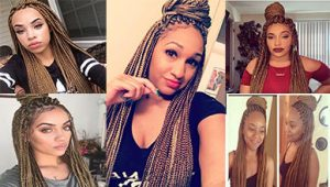 Lovely 6 Dark Brown Box Braids