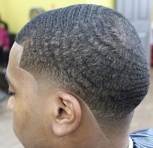 taper fade with waves
