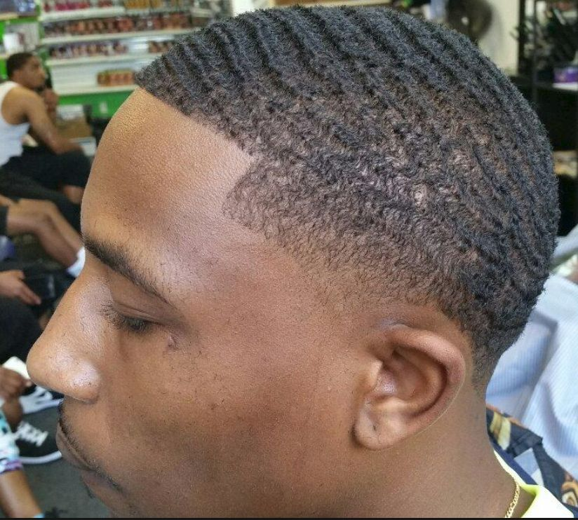 New 7 Taper Fade With Waves For Men