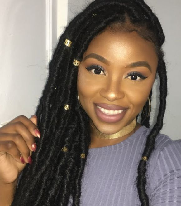 Faux Locs with Beads