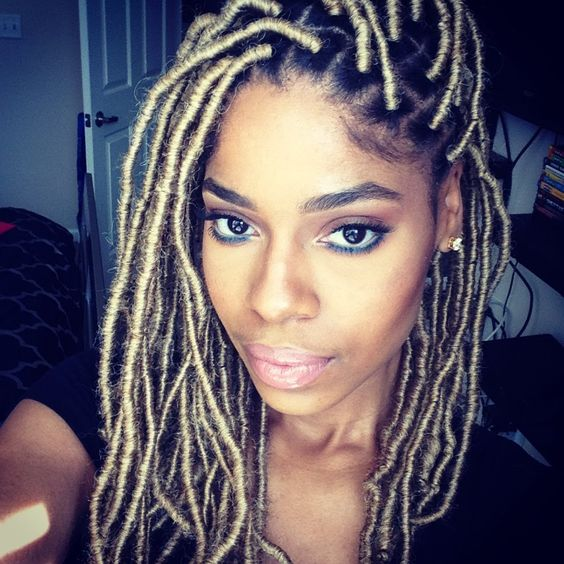 Faux Locs with Blonde Marley Hair