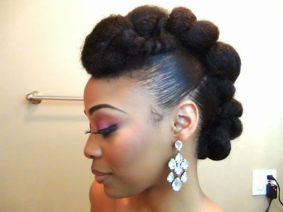 Bridal Bun For Long Natural Hair