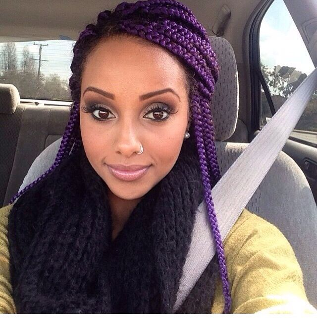 Striking 25 Purple Braids On Dark Skin New Natural Hairstyles
