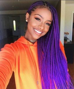 Pure Purple Long Braids