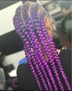 Jumbo Braids Purple Black Color