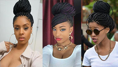 Trendy 23 Box Braids Bun Hairstyles