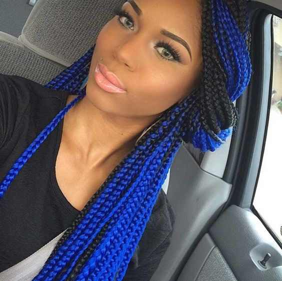 5 Blue And Black Box Braids Pictures New Natural Hairstyles