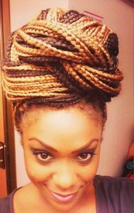 Brown Black Mix Braid