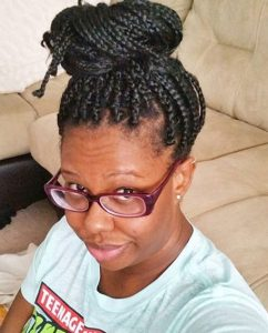 Adult Box Braids Bun