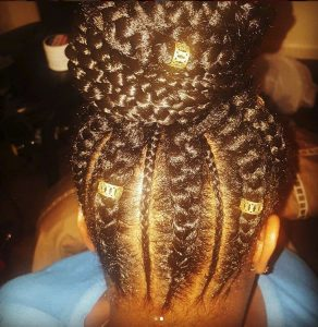 Braids with Golden Beads