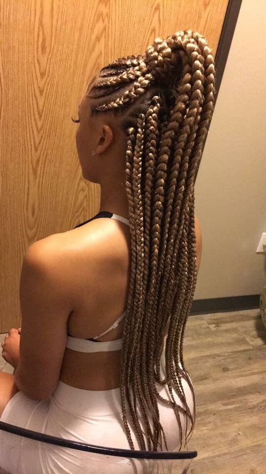 Blonde Ponytail with Feeds