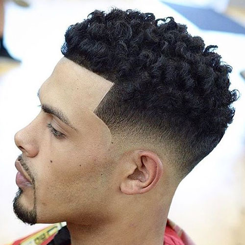 Youthful 21 Taper Fade With Curls Hairstyles For Men