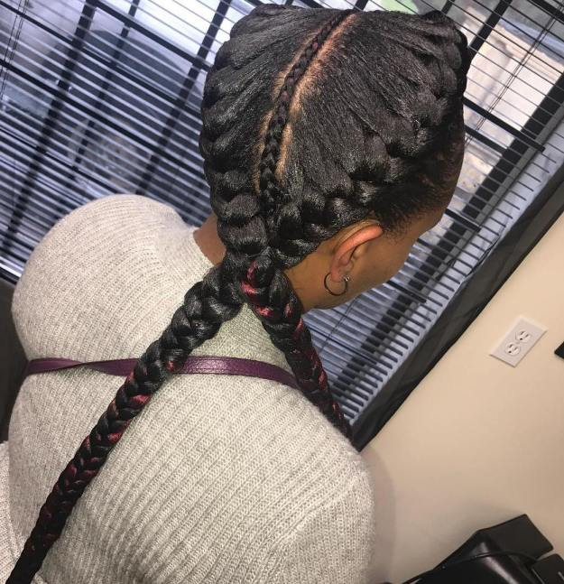 2 Goddess Braids With Weave Hairstyles Amp Haircuts For