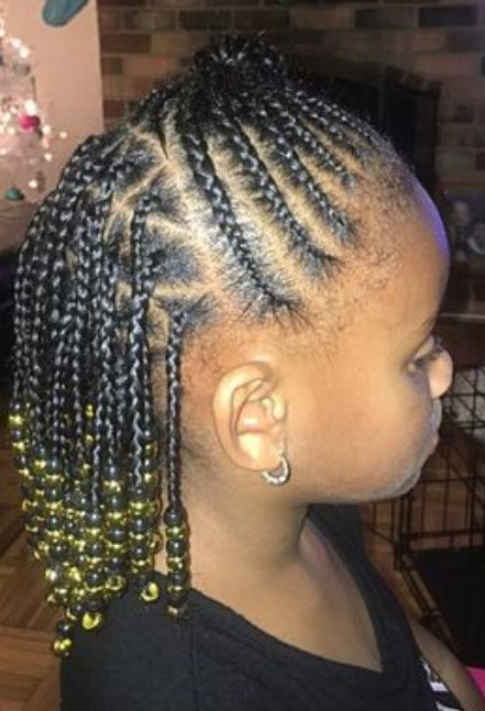 End Beads with Up Bun