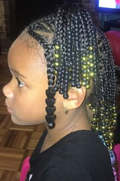 End Beads with Up Bun Side