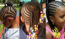 Braids with Beads for Little Girl