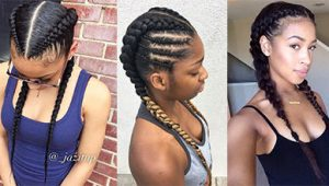 2 Goddess Braids to the Side